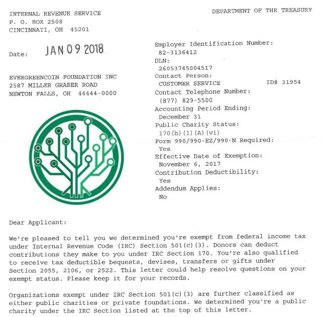 EGC501c3 Approval